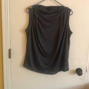 Zobha shirt with zipper neck line